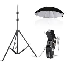 ng 195cm 6 4 light stand flash shoe umbrella holder l bracket 84cm 33 silver black umbrella kit lazada ph