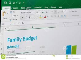 Family Budget In Microsoft Excel Editorial Stock Image Image Of