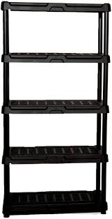 details about blue hawk 72 in h x 36 in w x 24 in d 5 shelf plastic freestanding shelving unit