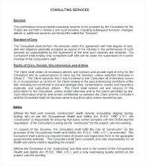 Consulting Contract Template Free Download Contract Template For Consulting Services Copyofthebeauty Info