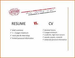 7 Resume Vs Curriculum Vitae Budget Template Letter Cv Vs Resume