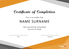 Course Completion Certificate Template Of Free Psd Best