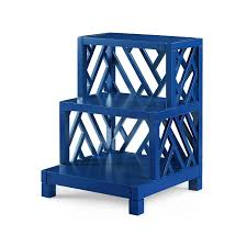 fretwork furniture. Photo Of Bungalow 5 Nantucket Stepped Side Table   Navy Lacquer Fretwork Nantucket-stepped- Furniture