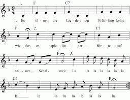 Ideen & noten für zwei musiker 4. Es Tonen Die Lieder Noten Liedtext Midi Akkorde