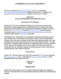Free Commercial Property Lease Agreement Free California Commercial Lease Agreement PDF Word doc 1
