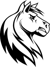 tribal horse head silhouette. Contemporary Silhouette Horse Silhouette Vector With Tribal Head Silhouette