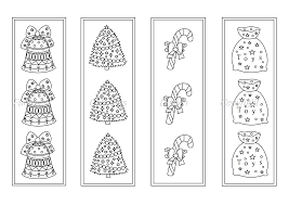 Add color to pictures of your favorite animals, interesting objects, yummy food, fun activities, vacation spots. Christmas Coloring Printable Bookmarks Bookmark To Color By Funny Colorings Thehungryjpeg Com