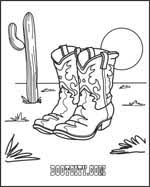 Cowboy Coloring Book By Boot City