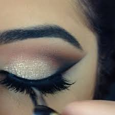 stila cosmetics in the know palette for the neutral a c cosmetics chilled cream shadow bobbi brown gel liner and house of lashes in noir fairy