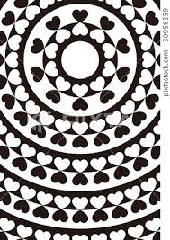 Background Material Wallpaper Heart Mark Pattern Pattern Pattern