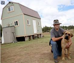 tiny houses in arizona. Collin Bass And His Dog Lucca In Front Of Their Tiny House Flagstaff, AZ Houses Arizona