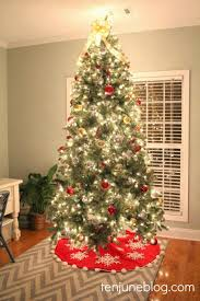 Medium size Ten June Red Silver Gold Christmas Tree Skirt Amazon Large size  ...