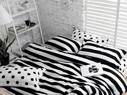 duvet black and white striped duvet cover