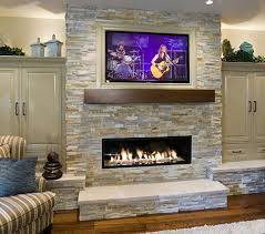 types of faux stone fireplace