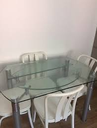 round glass extending dining kitchen table seats 4 6
