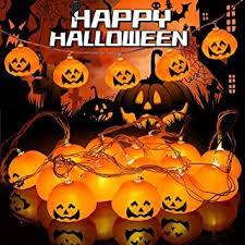 Kürbis Lichterkette für Halloween <b>LED</b> Kürbis Lichterkette ...