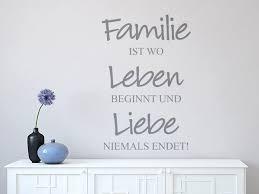 Wandtattoo Familie Leben Liebe Wohnzimmer Wandtattoo Shop Für
