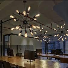18 head vintage industrial ceiling pendant lamp sputnik ceiling light chandelier
