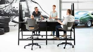 person office desk. bivi modular desk system in black finish with 4 desks arch accessory upper and person office