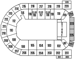 Mohegan Sun Arena Wilkes Barre Seating Chart With Rows Seating Charts Mohegan Sun Arena