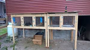 a sectional rabbit hutch