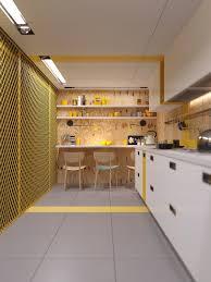 Yellow Kitchen Backsplash Kitchen Industrial Yellow Kitchen Design Nice Light Striped Wood