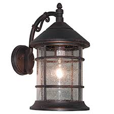 outdoor lantern lighting. ETopLighting Bella Luce Collection Exterior Outdoor Wall Lantern, Oil Rubbed Rust Body Finish Clear Seeded Glass APL1016 Lantern Lighting