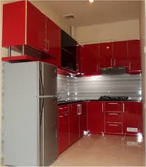 Kitchen Ideas Small Corner Red Black Gray Kitchen Design L Shaped