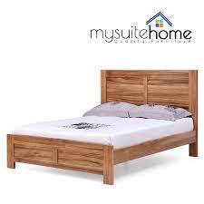 seattle brand new blackwood veneer timber queen size wooden bed frame