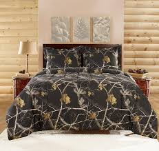 realtree apc 3 piece comforter set bright black intended for queen idea 12