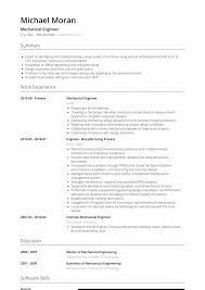 Mechanical Engineer Resume Samples And Writing Guide
