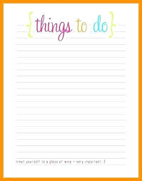 Things To Do Template And Charlie Printable Intended For Free List