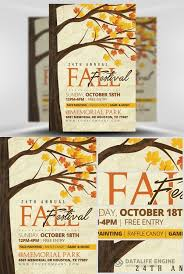 Fall Festival Flyer Free Template Flyer Template Psd Rustic Fall Fall Festival Pinterest Flyer