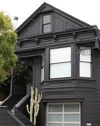 black houses victorian facade san francisco euphorbia