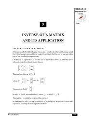 inverse of a matrix and its