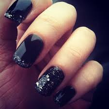 gel nail designs for fall 2014. black midnight sky gel nails nail designs for fall 2014