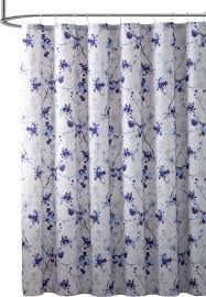 elegant purple blue beige fabric shower curtain watercolor fl nature print contemporary shower curtains by curtain call