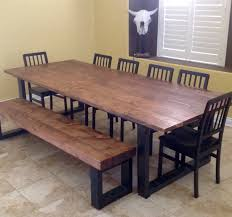 Dining Table Wood Hand Made Real Wood Dining Table By Lonesome Burro Llc