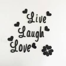 Live Love Laugh Quotes Custom Souq Live Love Laugh Quote Wall Sticker Quotes Acrylic Reflective