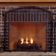 gas fireplace screen replacement single panel glass insert fireplace screen