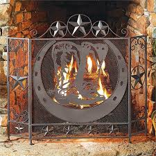 cowboy boot fireplace screen clearance