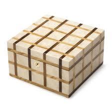 sofia small wooden jewellery box