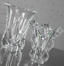 Modern Glass Vases Vintage Mid Century Modern Art Glass Vannes Le Chatel Crystal Vases