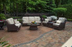 mila collection all weather wicker patio furniture deep seating set w swivel club chairs