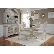 magnolia manor antique white pedestal table antique white today overstock 18618015