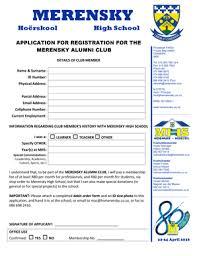 Merensky High School Application Form Fill Online