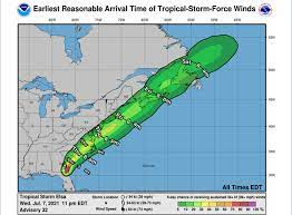 Tropical Storm Elsa: Warning and flash ...