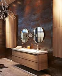 Bathroom Reclaimed Wood Mirror Frame Rustic Bathroom Design Idea