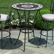 outdoor ideas furniture outdoor patio round metal dining table also with ideas the newest