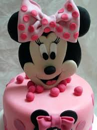 Mini Mouse Cake Topper Baby Shower Minnie Red White